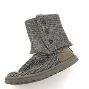 Ugg Cardigan Knitted Knit Boots size 8